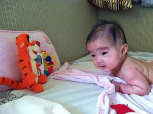 tummy time with tigger