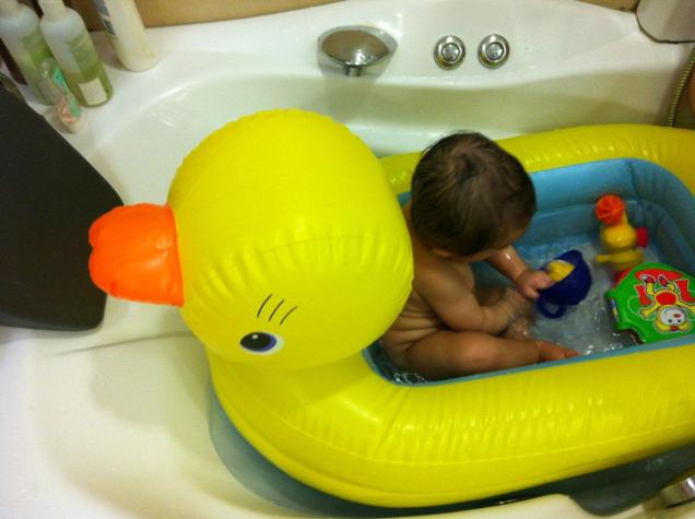 rubber ducky, you're the one... you make bath time lots of fun!