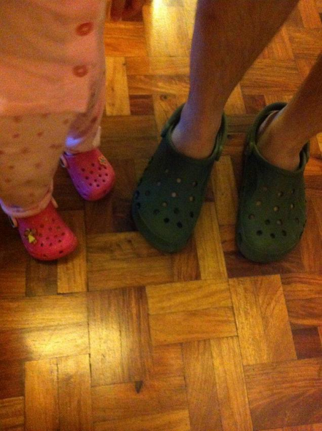 wanting to wear crocs because my daddy is my idol