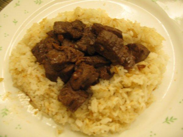 beef salpicao rice