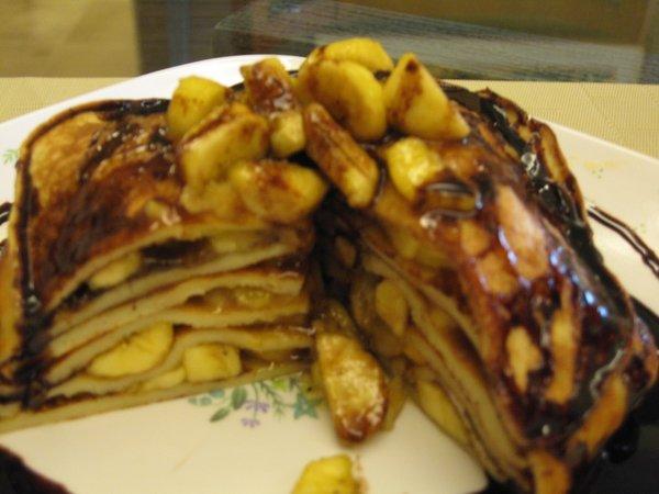 choco-banana pancake
