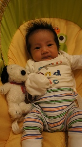 happy 1st month, gummy bear! :)